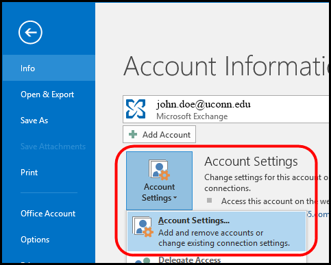 screen shot of Microsoft Exchange dialogue box