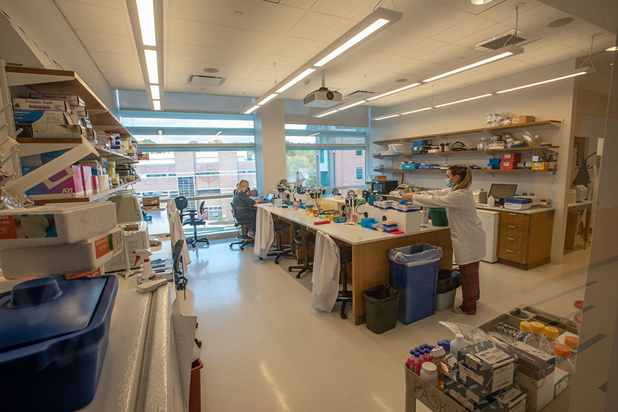 Interior lab in the Engineering & Science Building